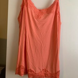 Lane Bryant orange lace cami w/adjustable straps